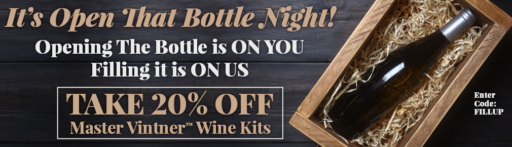 Take 20% OFF Master Vintner™ Wine Kits