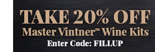 20% Off Master Vintner Wine Kits