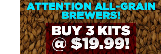 Buy 3 of 7 Beer Kits, Get Each for $19.99