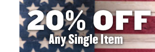 20% Off Any Single