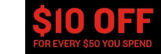 Take $10 Off Every $50 Spent