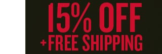 15% Off & Free Shipping