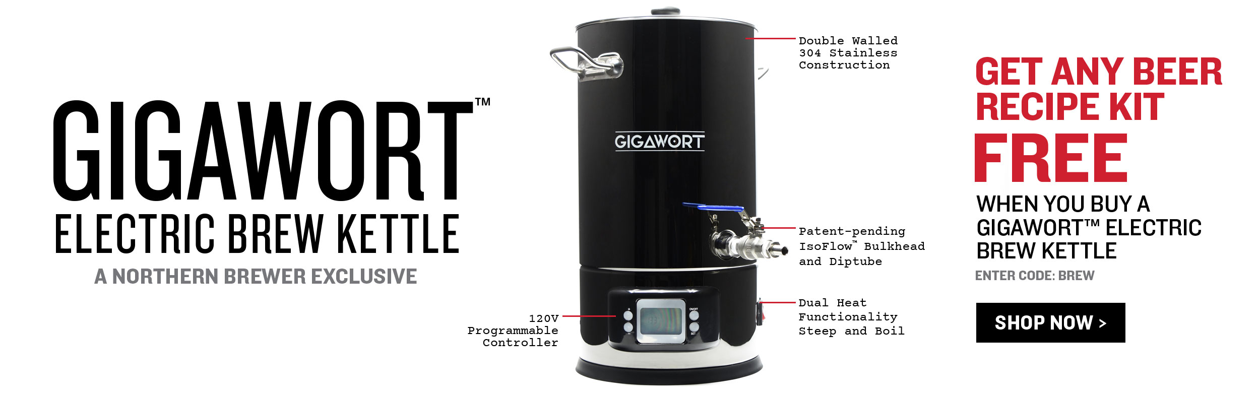 Buy a Gigawort, Get Any Beer Recipe Kit Free!