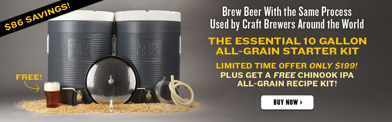 All Grain Home Brewing Starter Kit with free Chinook ipa all grain kit FREE