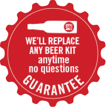 We'll replace any beer kit anytime no questions guarantee