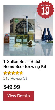 1 Gallon Small Batch Home Beer Brewing Kit