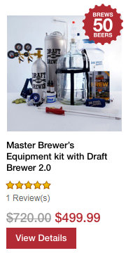 Master Brewer's Equipment kit with Draft Brewer 2.0